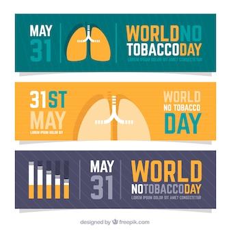 Banners del día antitabaco
