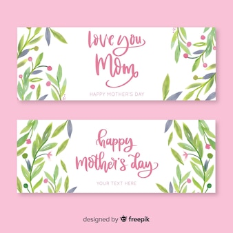 Banners del día de la madre