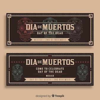 Banners del día de los muertos