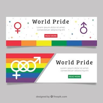 Banners del día del orgullo