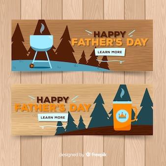 Banners del día del padre dibujado a mano
