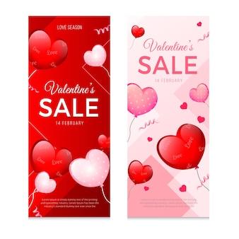 Banners del día de san valentín para ventas