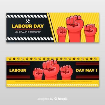 Banners del día del trabajo