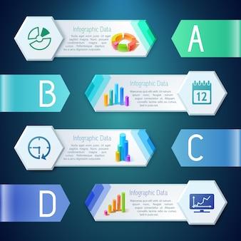 Banners digitales de infografía