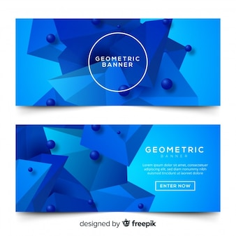 Banners con diseño geométrico