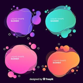 Banners de diseño líquido abstracto