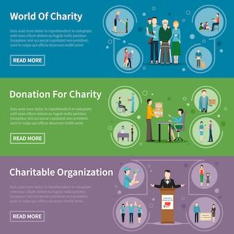 Banners de donaciones de caridad