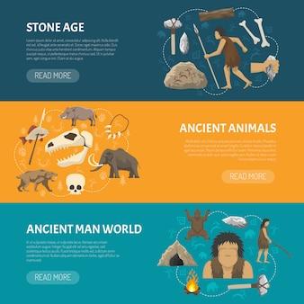 Banners de la edad de piedra