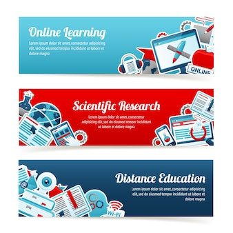 Banners de educación en línea