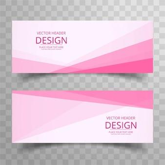 Banners elegantes modernos rosas
