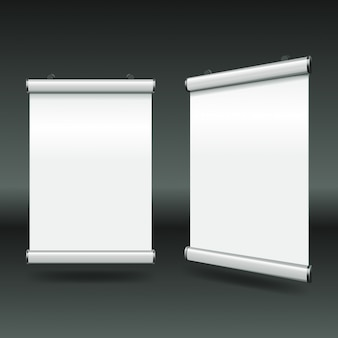 Banners enrollables blancos mínimos simples