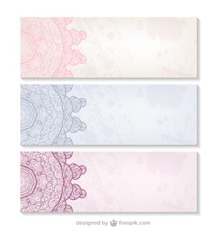 Banners de estilo arabesco