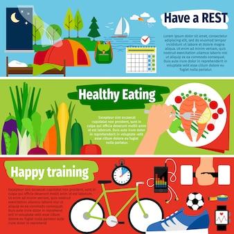 Banners de estilo de vida saludable