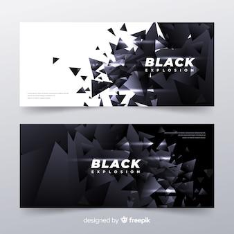 Banners de explosión negra