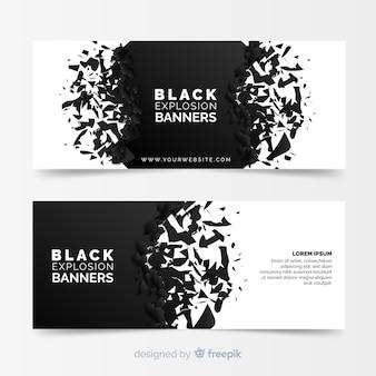 Banners con explosión negra