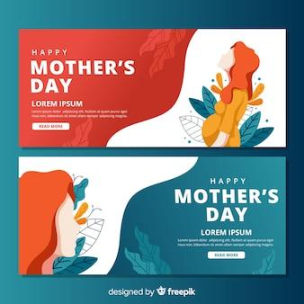 Banners de feliz día de la madre