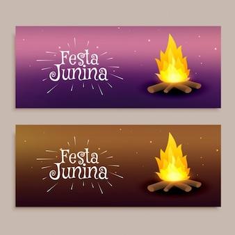 Banners del festival de la fiesta junina