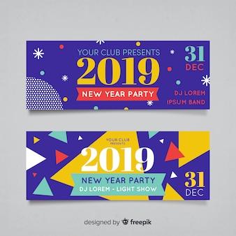 Banners fiesta de año nuevo 2019