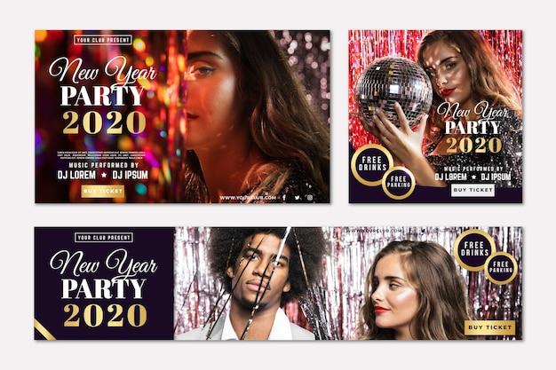 Banners de fiesta de año nuevo