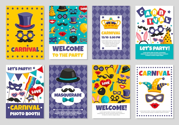 Banners de fiesta de carnaval