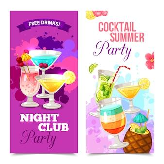 Banners de fiesta de cócteles