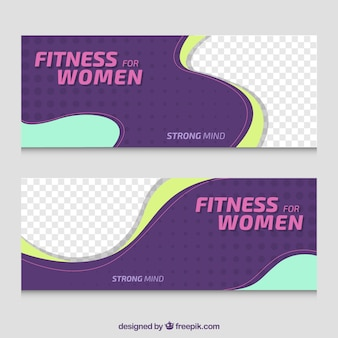 Banners de fitness para mujeres