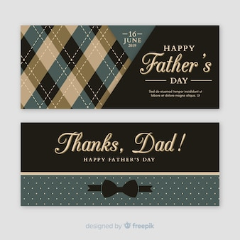 Banners flat del día del padre