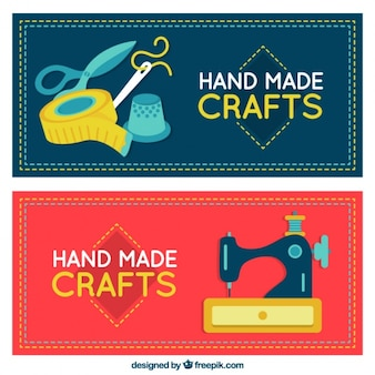 Banners flat sobre artesanía