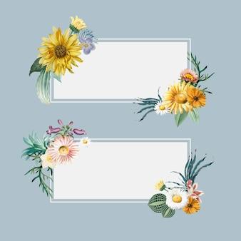 Banners florales de verano