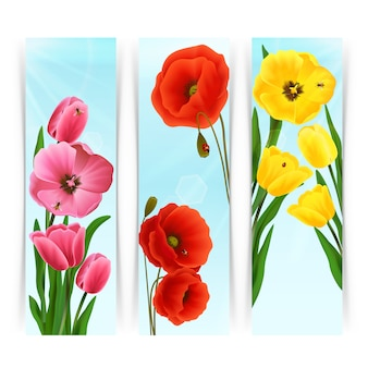 Banners florales verticales