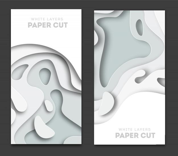 Banners con fondo abstracto en 3d