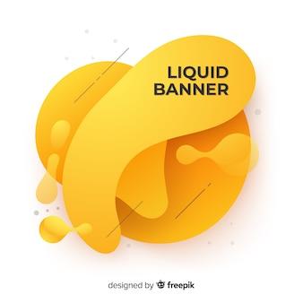 Banners con formas líquidas abstractas