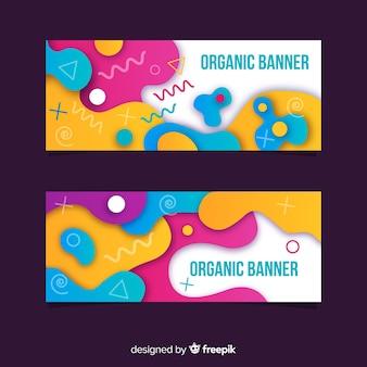 Banners de formas orgánicas abstractas