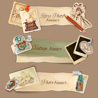 Banners de fotos de papel