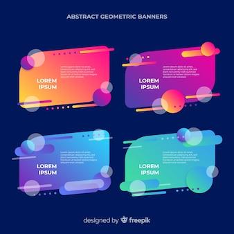 Banners geométricos abstractos. plantilla editable