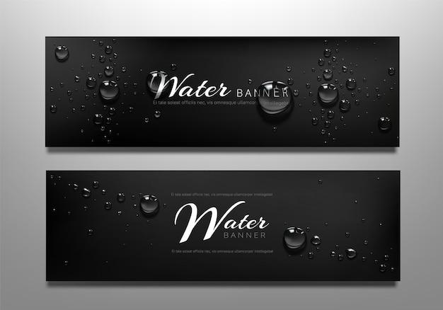 Banners de gota de agua