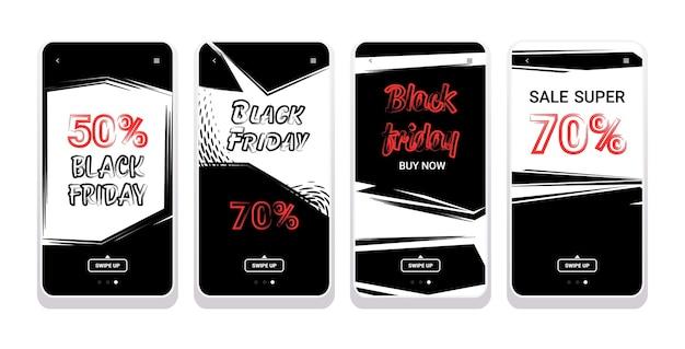 Banners de gran venta colección de viernes negro oferta especial marketing promocional compras navideñas