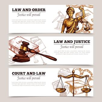 Banners horizontales de ley