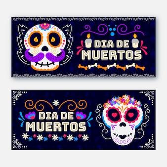 Banners horizontales del día de muertos.