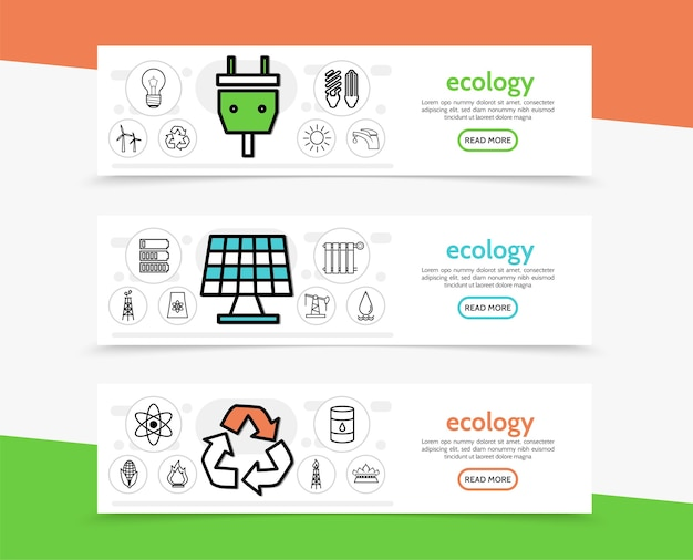 Banners horizontales de ecología