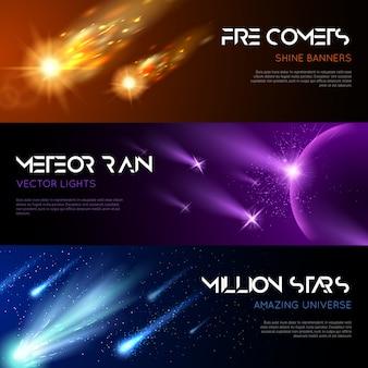 Banners horizontales del espacio