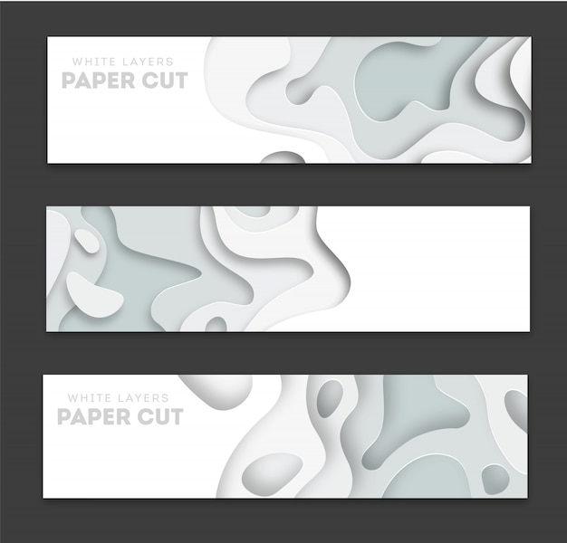 Banners horizontales con fondo abstracto 3d