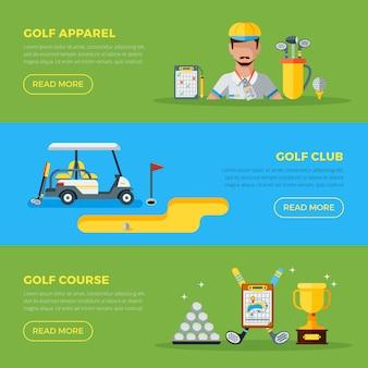 Banners horizontales de golf