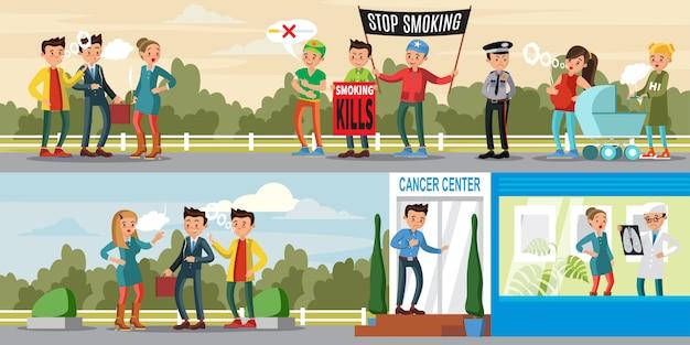 Banners horizontales de hábitos nocivos