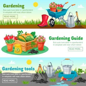 Banners horizontales de jardinería