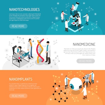 Banners horizontales de nano technologies