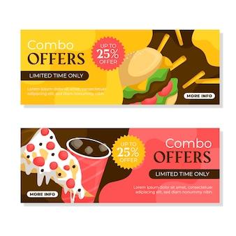Banners horizontales para ofertas combinadas