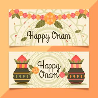 Banners horizontales onam