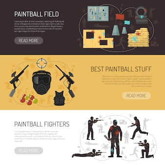 Banners horizontales de paintball