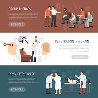 Banners horizontales de psicólogo